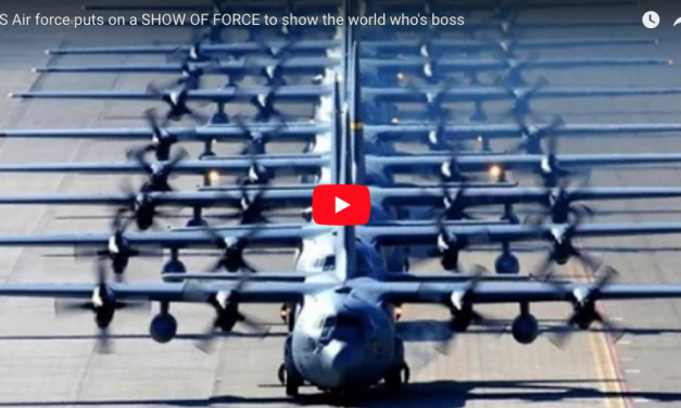 US Air force puts on a SHOW OF FORCE to show the world who's boss