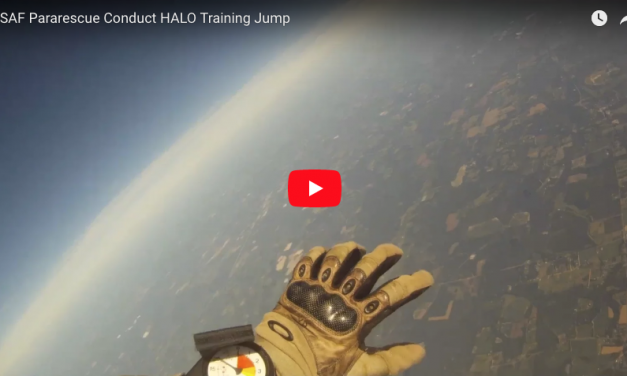 USAF Pararescue Conduct HALO Training Jump