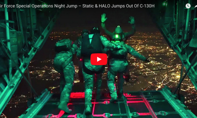 Air Force Special Ops Night Jump – Static & HALO Jumps Out Of C-130H