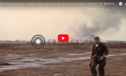 USAF personnel wait to attack Vietcong at Tan Son Entrance Air Base, Vietnam