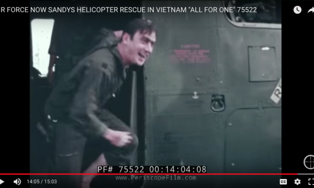 "USAF Helicopter Rescued Pilot is Saved in Vietnam ""All for One"""