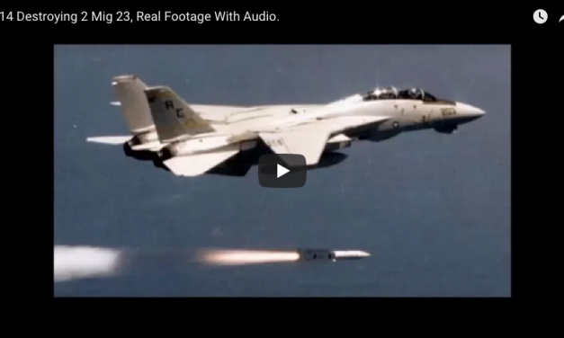 F 14 Destroying 2 Mig 23, Real Footage With Audio.